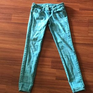 Wildfox Teal Acid Wash Jeans, Size 26